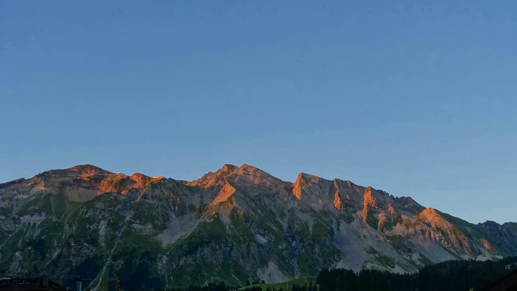 Le Brienzer Rothorn à l'aube